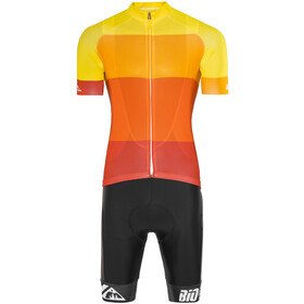 Red Cycling Products Colorblock Race Kleding set Heren geel/rood
